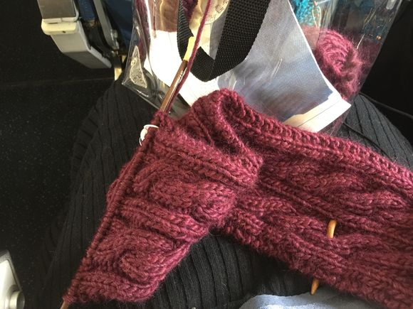 Today's Airplane Knitting